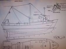 shrimp  TRAWLER boat model plan large