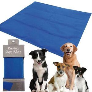 Pet Cooling Mat Self Cool Cooling Gel Mat Pet Dog Cat Heat Relief non-Toxic Blue