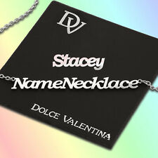 Personalised Name Necklace Valentines Custom Nameplate Pendant Stainless Steel
