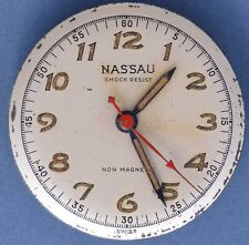 Nassau Laco AS 1194 40s Vtg 17j Radium Dial Good Balance Staff Parts/Repairs