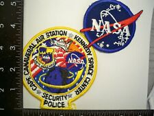 Old Federal DOD NASA Cape Canaveral FL Security 2 Patch Set USAF Florida Police
