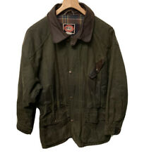 The Australian Outback Collection Oilskin Leather Army Green Rancher Jacket Sz L
