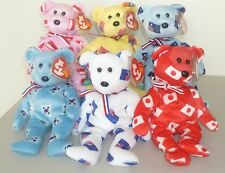 5f85d713935 TY BEANIE BABY 2005 ASIA PACIFIC EXCLUSIVE SET FLAG BEARS MWMT