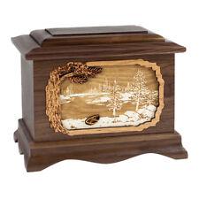 Wood Cremation Urn (Wooden Urns) - Walnut Lakeshore Ambassador