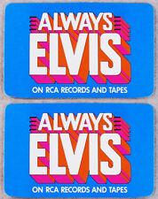 Elvis Presley 1979 Wallet Size Pocket Calendar Original RCA Promo lot of 2 MINT