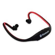 Rouge Bluetooth Sans fil Casque à arceau Sport Mains Libres pour Smartphone