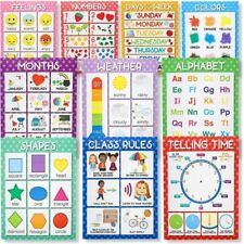 10 Educational Preschool Poster for Toddlers Kids Room Nursery Learning 18 x 24