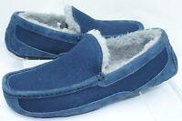 New Ugg Australia Mens  Ascot Slippers Size 8 Shoes Blue Slip Ones