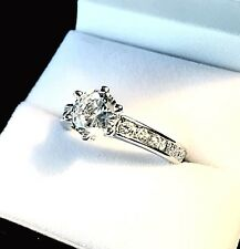 Stone Engagement Style Ring Gorgeous New listing Sterling And 1.25Ct Cz Main