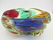 "Archimede Seguso gold dust ""Macchie Ambra Verde"" art glass Murano bowl 50s FIND"