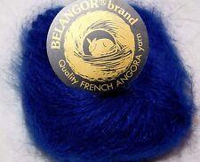 NAVY BLUE 1 Skein Galler BELANGOR 100% ANGORA Rabbit Fur ULTRA-SOFT Luxury Yarn