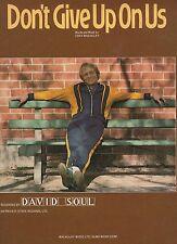 DAVID SOUL ne pas give up sur nous nous Partition de musique