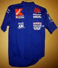 AUTO RACING Embroidered Patches SPONSORS Blue Size M/M CREW SHIRT