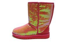 UGG Australia Womens Classic Short Sparkles Neon Hot Pink Boot Shoe 9
