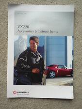 VAUXHALL VX 220 ACCESSORIES  BROCHURE 2000 jm