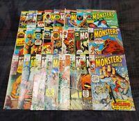 Where Monsters Dwell # 1-38 (24 Bk Lot) Marvel Horror 1970 Kirby/Ditko 1st Groot