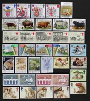 GR. BRITAIN 1984 Complete Commemorative Year, 9 sets, 36 stamps Mint NH
