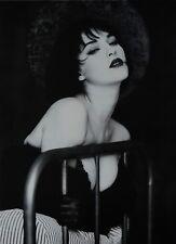Bob Carlos Clarke Limited Edition Photo Print 44x58cm Suzie Bick on Bed B&W Nude