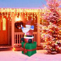 5.5ft Inflatable Christmas Santa Claus Airblown w/LED Outdoor Yard Decorations