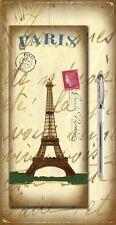 Magnético MEMO Pad & Lápiz FRIDGE MAGNET lista de compras París Torre Eiffel