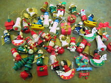 LOT 42 MINI CHRISTMAS ORNAMENT DECORATION Assorted Styles