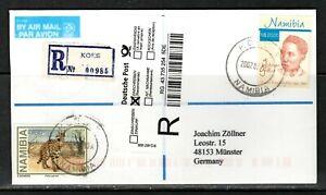 Namibia Cover - Koes 10.07.2007 Johana Gertze 20 Nam Dollar Felis serval