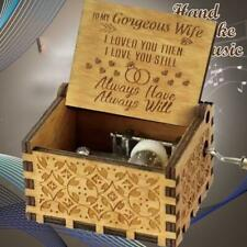 To my gorgeous wife- I LOVED YOU THEN I LOVE YOU STILL - Engraved Music Box Gift