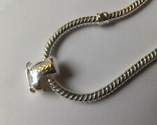 925 SILVER 'ICE SKATE'  CHARM BEAD Gold Plate Laces