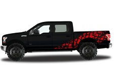 Vinyl Decal Wrap Kit TIRE TRACKS for Ford F-150 2015-2017 RED SuperCrew 5.5 Bed