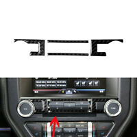 4Pcs For Ford Mustang 2015-2019 Carbon Fiber Console CD Switch Button Trim Cover