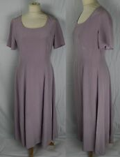 Vintage 1980s LAURA ASHLEY SILK Dress 12 Summer Bridesmaid Wedding Pastel Lilac
