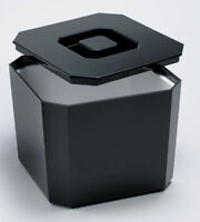 Square Ice Bucket Black 4.5ltr | Plastic Octagonal Ice Cube Bucket Cooler