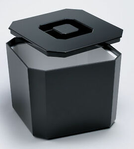Square Ice Bucket Black 4.5ltr | Plastic Octagonal Ice Cube Bucket Cooler