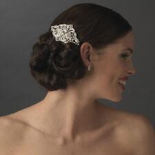 Vintage Antique Wedding Bridal Hair Comb Bridesmaid Crystals Rhinestone Diamante