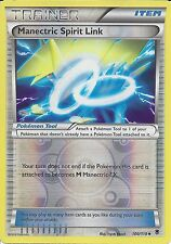 POKEMON XY PHANTOM FORCES - MANECTRIC SPIRIT LINK 100/119 REV HOLO TRAINER CARD