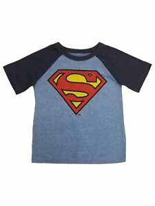 Toddler Boys Classic Superman Logo Light Blue Short Sleeve Tee Shirt T-Shirt 2T