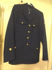 MILITARY ISSUE NAVAL SEAMAN JACKET/COAT-2 StripeS,DEROSSI & SONS-EMBLEM PATCH