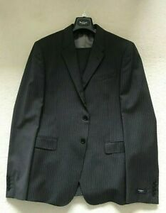 Paul Smith BYARD Charcoal Grey Stripe Single Breasted 100% WOOL SUIT 44 / 54