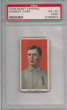 1909 T206 CHARLEY CARR  PSA 4 MK SWEET CAPORAL 350 FACTORY 25