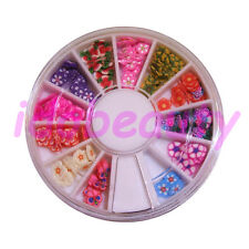 FIMO FLOWER MIX NAIL ART DECO DESIGN CRAFT SLICE FOR NAILS 6CM WHEEL F