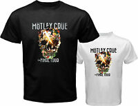MOTLEY CRUE The Final Tour Rock Band Legend Men's White Black T-Shirt Size S-3XL