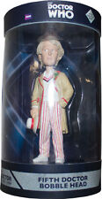 DOCTOR WHO ~ 5th Doctor with Light-up LED Base Bobble Head (Ikon) #NEW