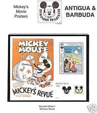 ANTIGUA BARBUDA # 1730 DISNEY MICKEY'S MOVIE POSTERS