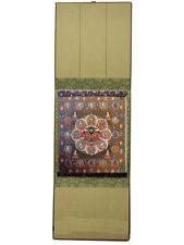 Buddhist SHIKISHI mount set; HOKKE MANDALA (The Lotus Sutra Mandala)