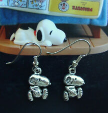 "Snoopy Jewelry EARRINGS ""Peanuts Character"" - Charlie Brown's Dog Puppy"
