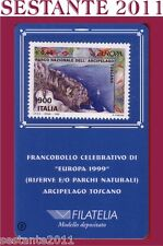 TESSERA FILATELICA FRANCOBOLLO CELEBRATIVO EUROPA ARCIPELAGO TOSCANO 1999 B8