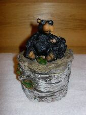 Rustic Black Bear Treasure Box Adirondack Mountain Log Cabin Maine Lake Lodge