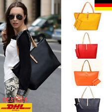 Damen Gro�Ÿ Tasche PU Leder Handtasche Schultertasche Umhängetasche Shopper Oy
