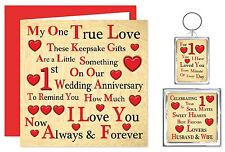 1st - 70th Our Wedding Anniversary Card & Gifts - Husband/Wife - One True Love