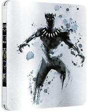 BLACK PANTHER - EDIZIONE STEELBOOK (2 BLU-RAY 3D + 2D) FILM MARVEL STUDIOS